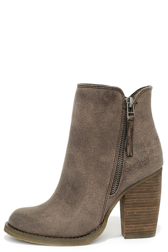 cute taupe booties high heel booties ankle boots. Black Bedroom Furniture Sets. Home Design Ideas
