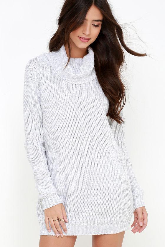 Light Grey Sweater Dress 89