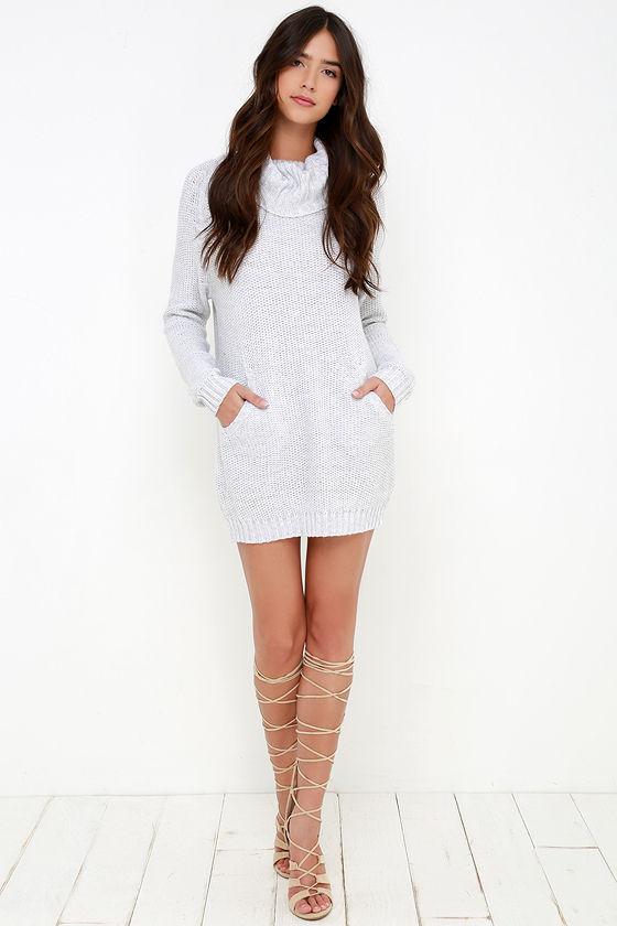 Light Grey Sweater Dress 15