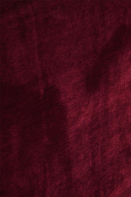 Jazzy Belle Burgundy Velvet Dress 6