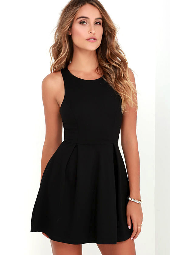 Black dress cutouts