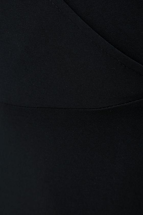 Garden District Black Wrap Maxi Dress 7
