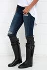 Cute Black Rain Boots Tall Rain Boots Cute Rain Boots