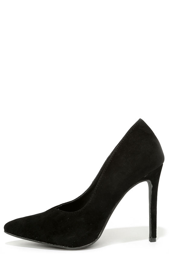 dfde930e78 Cute Velvet Pumps - Black Pumps - Velvet Heels - $59.00