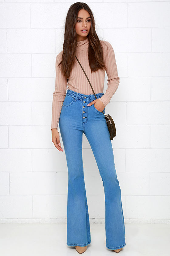 Somedays Lovin' Dylan - Flare Jeans - Blue Jeans - High-Waisted ...