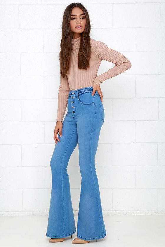 Somedays Lovin Dylan Flare Jeans Blue Jeans High