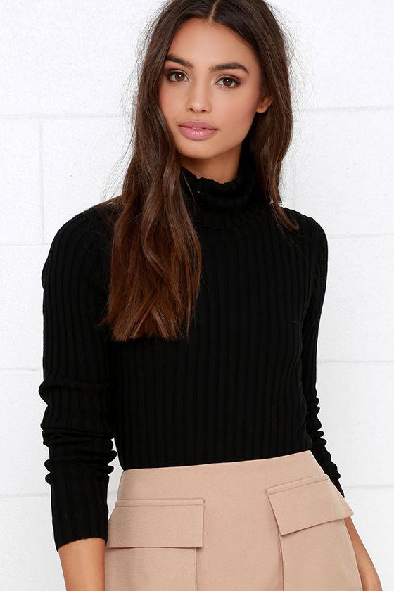 Chic Black Bodysuit - Turtleneck Bodysuit - Bodysuit - One-Piece -  38.00 710f32af9