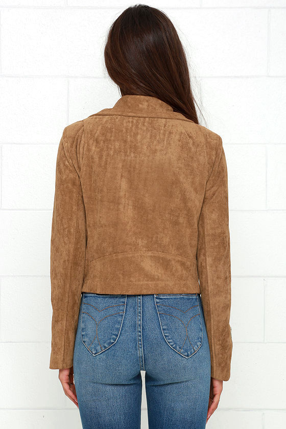 Suede with Love Tan Suede Moto Jacket 6