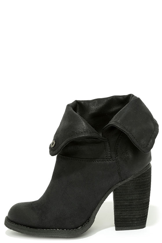 Sbicca Chord Boots - Black Boots - High Heel Boots - Suede Boots ...
