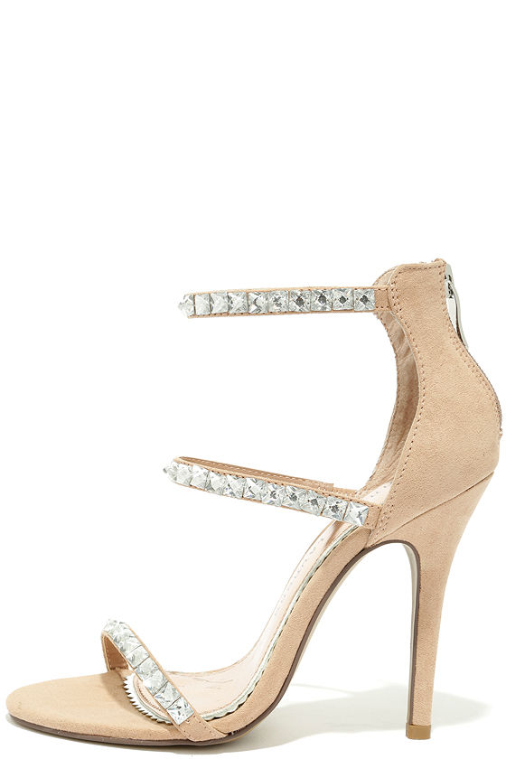 Chinese Laundry Jitters - Nude Heels - Ankle Strap Heels - Beige ... 021067cc9e