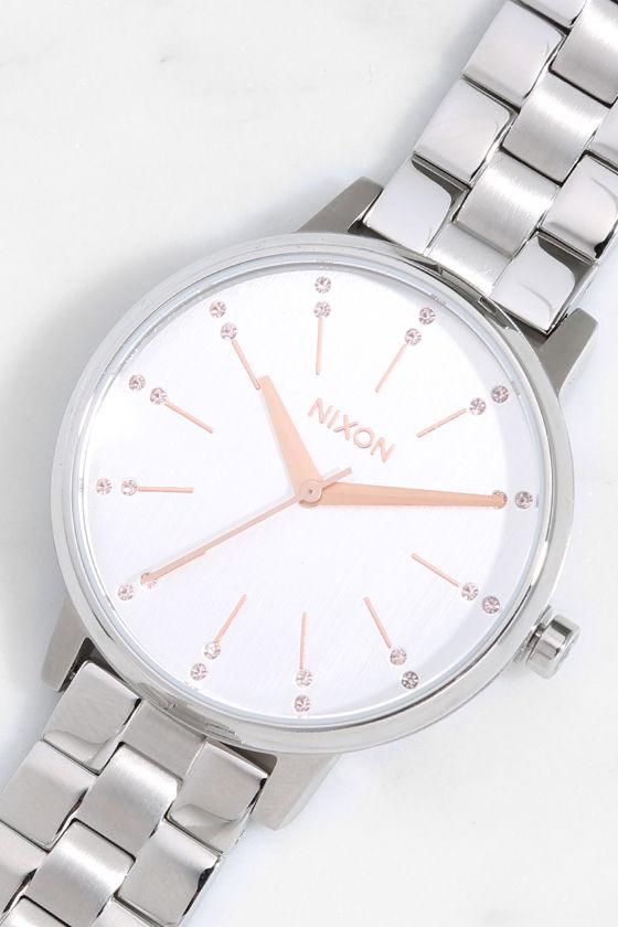 25e4ea70db343 Nixon Kensington Watch - Silver Watch - Crystal Watch -  125.00