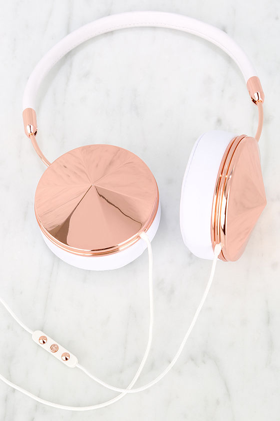 Image result for rose gold headphones