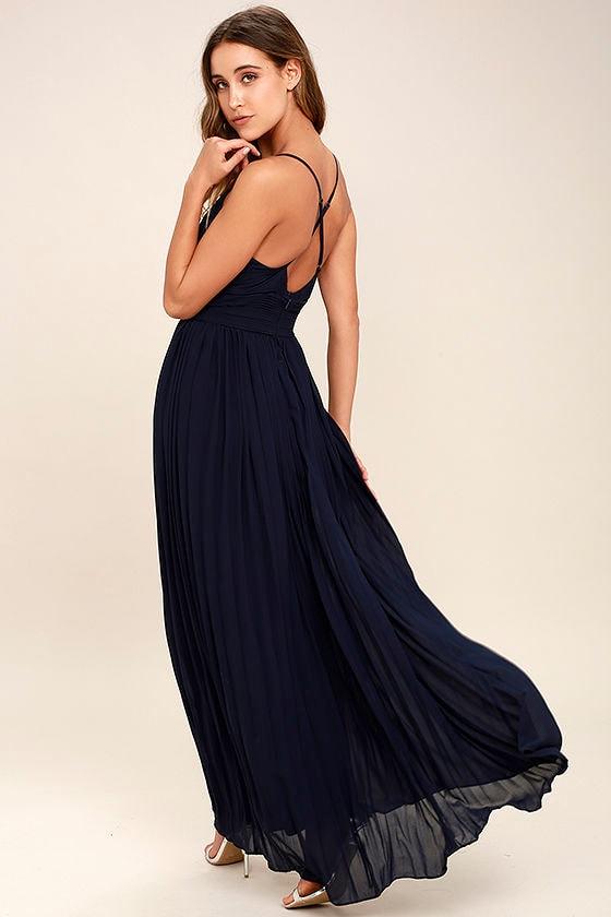 Depths of My Love Navy Blue Maxi Dress 3