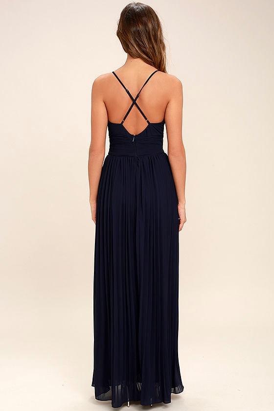 Depths of My Love Navy Blue Maxi Dress 4