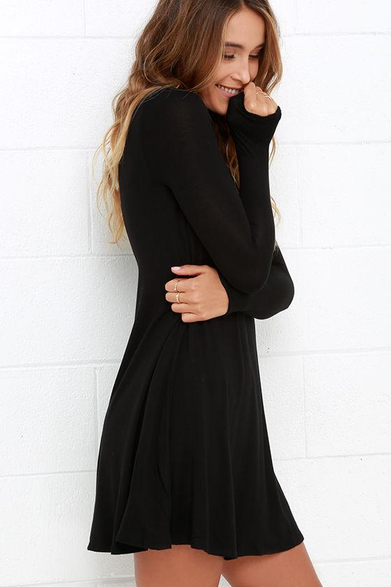Sway, Girl, Sway! Black Swing Dress 3