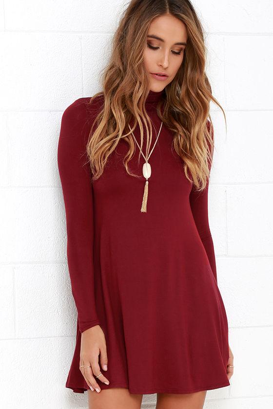 Sway, Girl, Sway! Wine Red Swing Dress 1