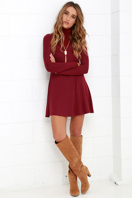 Sway, Girl, Sway! Wine Red Swing Dress 2