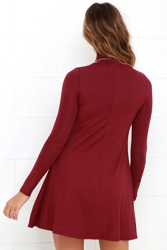 Sway, Girl, Sway! Wine Red Swing Dress 4