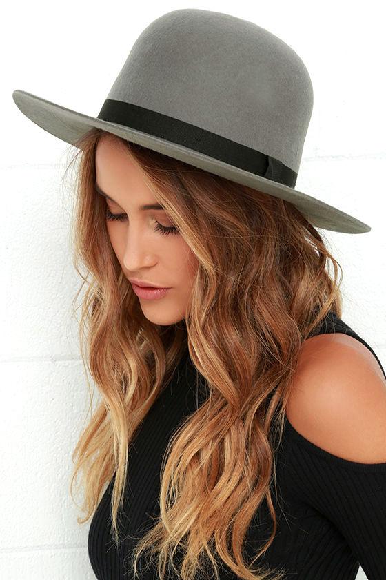 Cool Grey Hat - Wide Brim Hat - Wool Hat -  80.00 9793dd99151