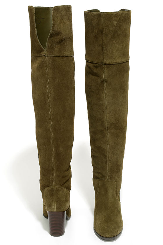 a538a920d746 Cute Olive Boots - Over the Knee Boots - High Heel Boots - $203.00