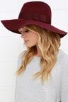 Brixton Piper - Burgundy Hat - Wool Hat - Fedora Hat -  58.00 4f8d10b4dfe