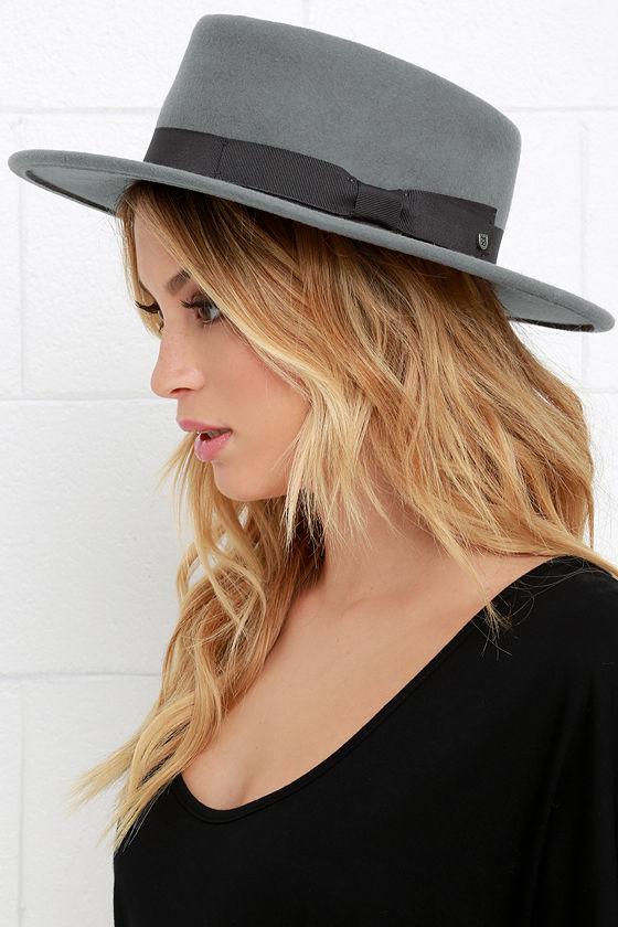 c154a45fd4e23 Brixton Alex - Grey Hat - Wool Hat - Fedora Hat -  70.00