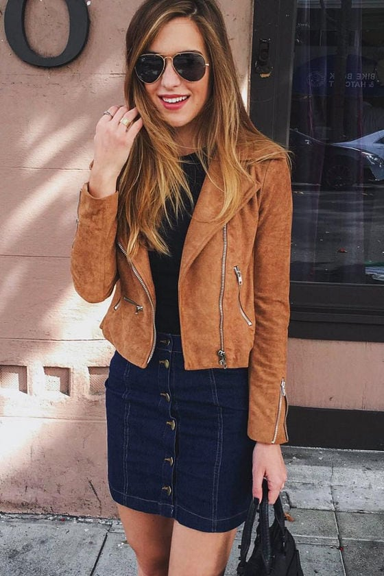 Suede with Love Tan Suede Moto Jacket 9