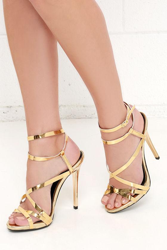 488388221ef4 Lovely Gold Heels - Dress Sandals - Gold Sandals -  33.00