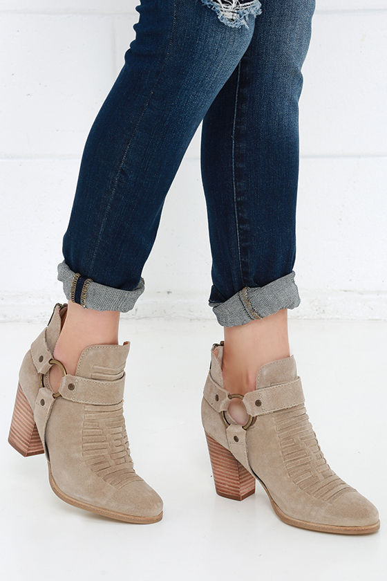 50026541d1 Seychelles Impossible Boots - Taupe Leather Boots - Ankle Boots ...