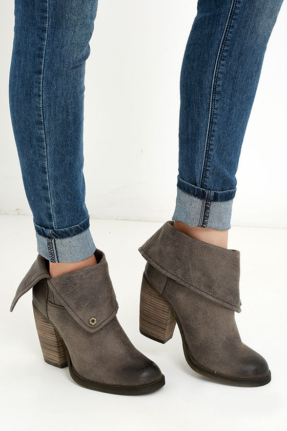 Sbicca Chord Taupe FoldOver Boots 1