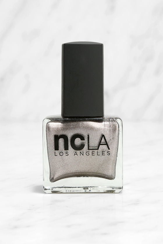 NCLA Match Made in Cali Sparkle & Shine Silver Nail Lacquer Set 3