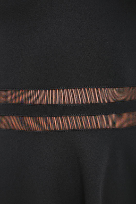 Yes to the Mesh Black Skater Dress 6