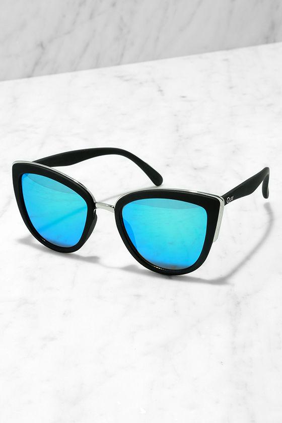 Quay My Girl - Blue and Black Sunglasses - Cat-Eye Sunglasses -  50.00 1d2d9aeb8d8