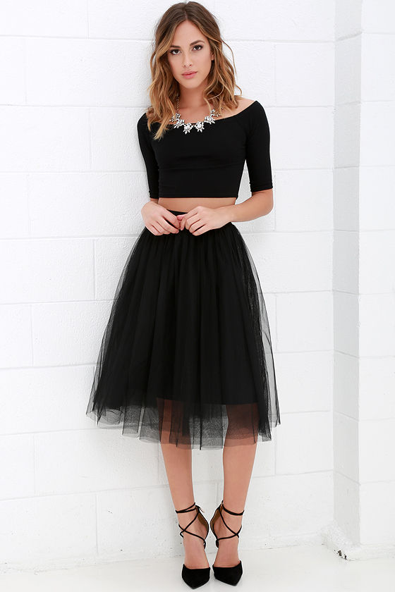 superb black tulle skirt outfit size