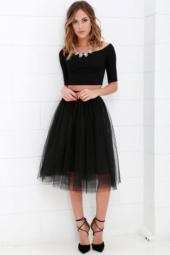 black tulle skirt - redskirtz