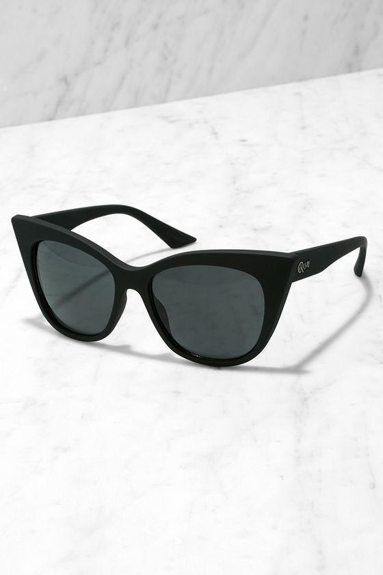 7ecaf483d7 Quay Modern Love Black - Cat Eye Glasses - Matte Sunglasses -  45.00