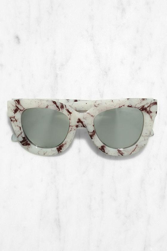 ea6825b4548 Quay Sugar and Spice - Marble Sunglasses - Mirrored Sunglasses -  50.00