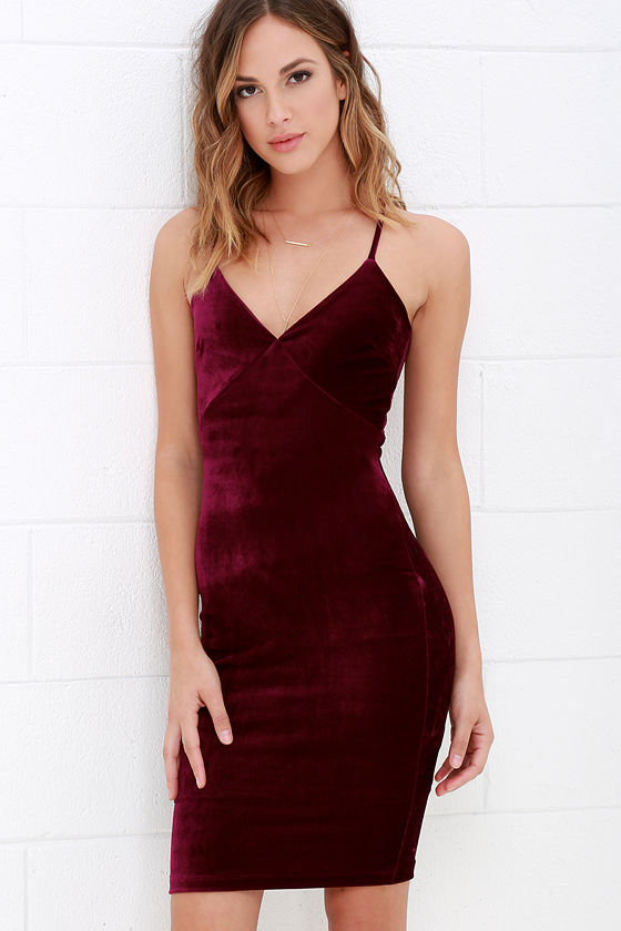 Velvet Dress Lace Dress Bodycon Dress Backless Dress