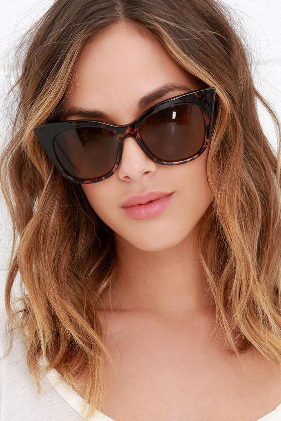 39e573c6e2 Quay Modern Love Tortoise - Cat Eye Glasses - Brown Sunglasses -  45.00