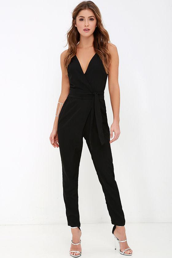cd119254ae14 Black Jumpsuit - Sleeveless Jumpsuit - High-Waisted Jumpsuit -  59.00