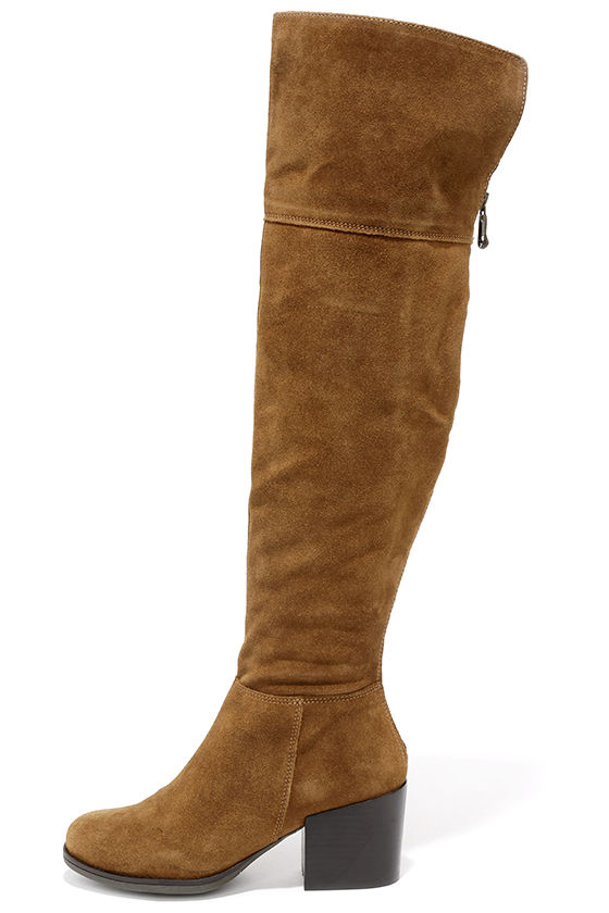 5edaab5a632 Cute Chestnut Suede Boots - Over the Knee Boots - OTK