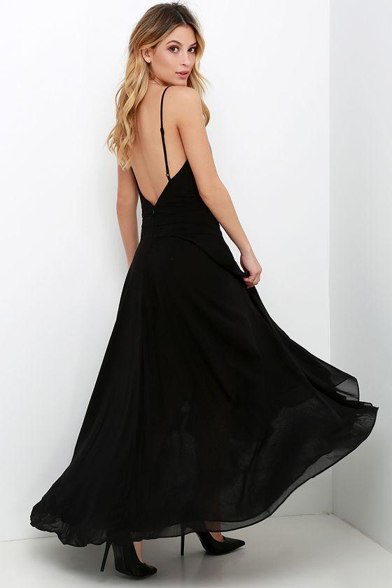 Lovely Black Dress - High-Low Dress - Maxi Dress - $65.00