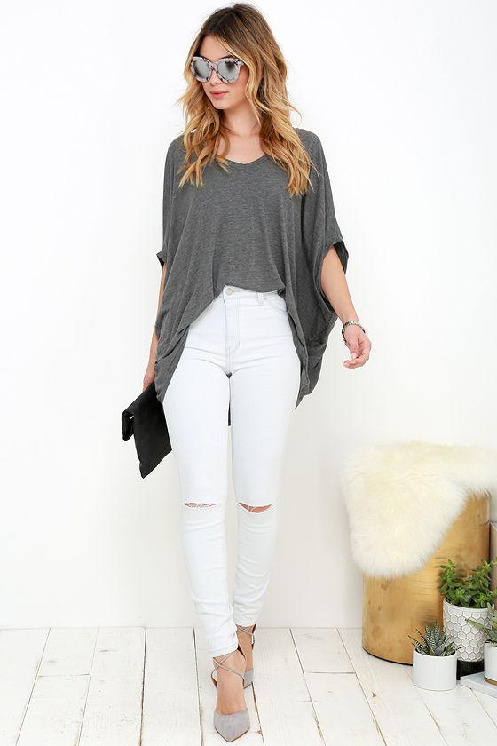 52de3d08dc0 Rollas Westcoast Jeans - White Jeans - Distressed Skinny Jeans - $93.00