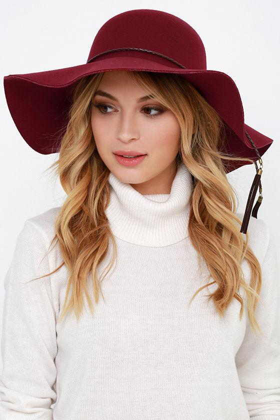 Wine Red Hat - Floppy Hat -  15.00 237cb199ad6