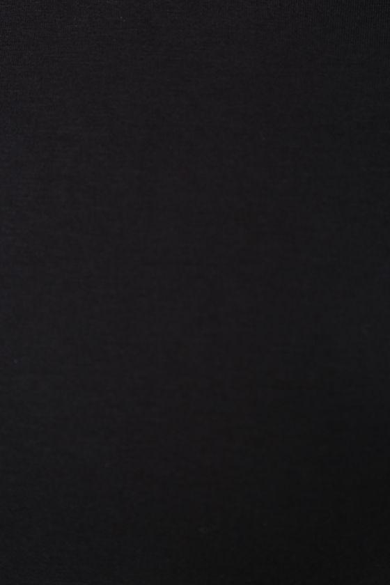True To You Black Midi Dress 6