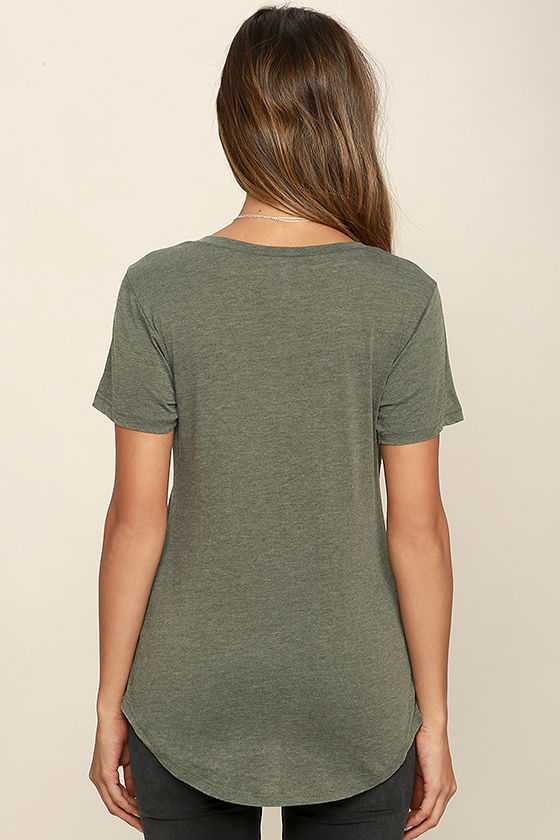 Z Supply Pleasant Surprise Olive Green Tee 4
