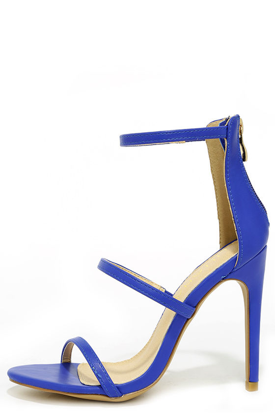 Sexy Blue Heels - Dress Sandals - High Heel Sandals - $32.00