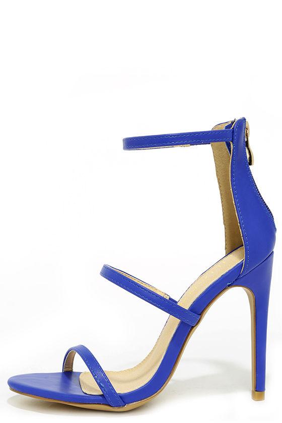 Sexy Blue Heels - Dress Sandals - High