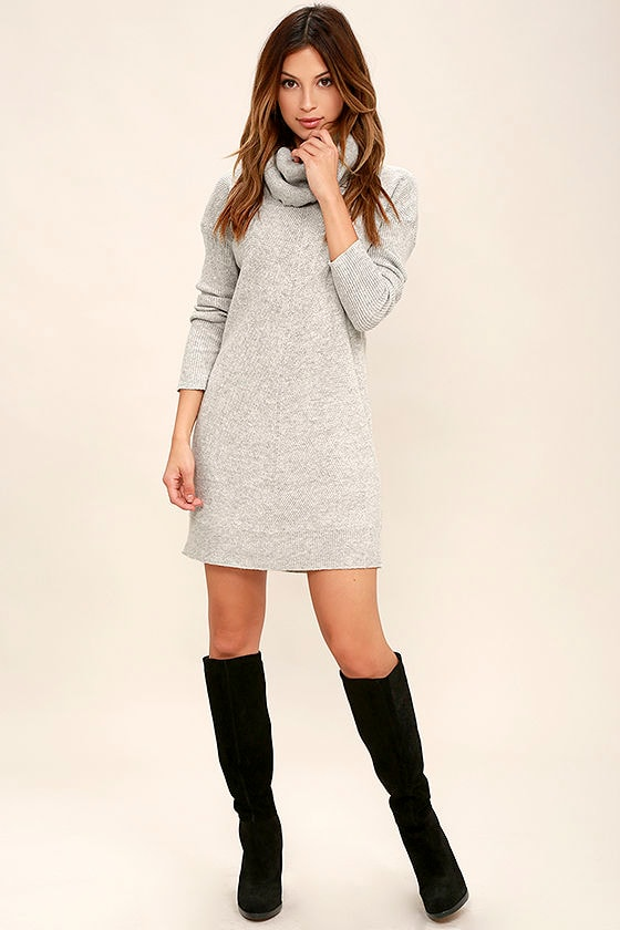 Tea Reader Light Grey Sweater Dress 2