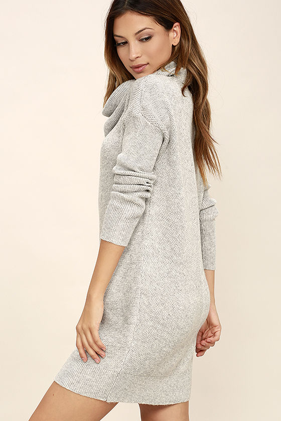 Tea Reader Light Grey Sweater Dress 3